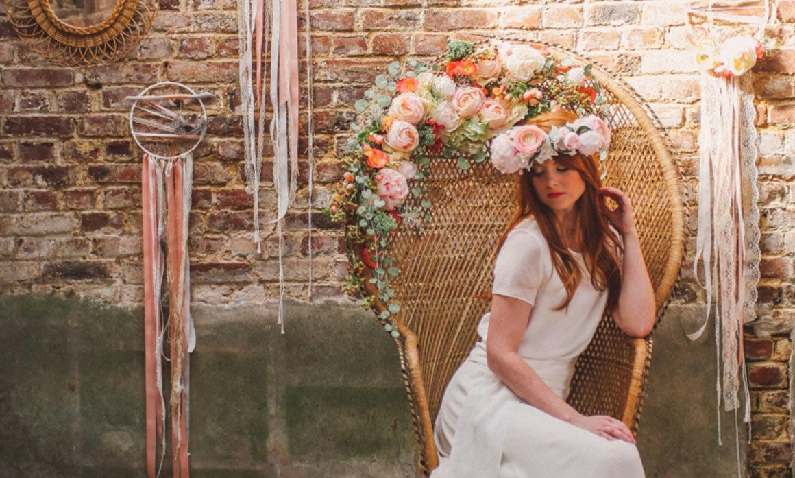 fauteuil Emmanuelle décoration mariage tons poudrés fleur romantisme