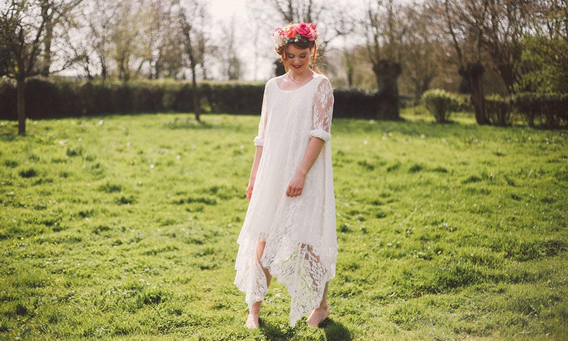 robe Orlane Herbin fleur rose mariage coiffure dynamique gourmande