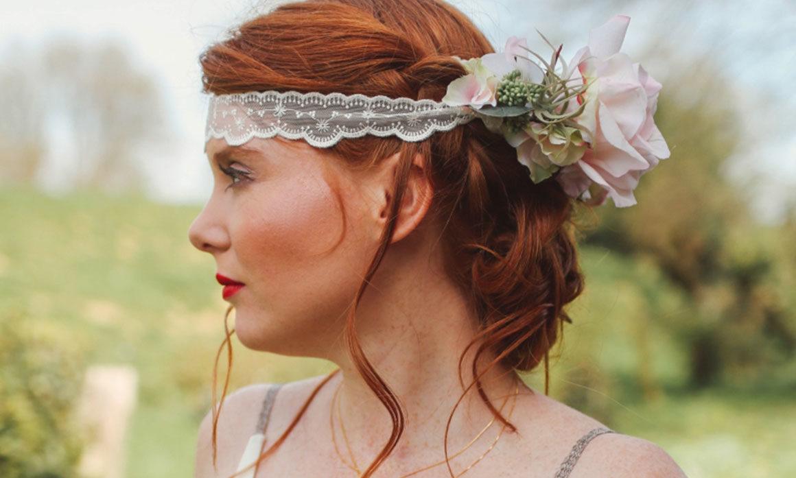 accessoire floral mariage cérémonie tons poudrés poudres rose david austin enfant