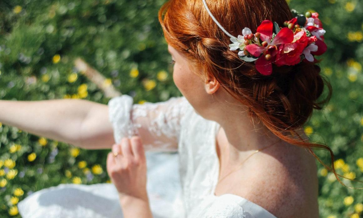head band mariage fleur camaïeu rose headband fleuri rose élégant
