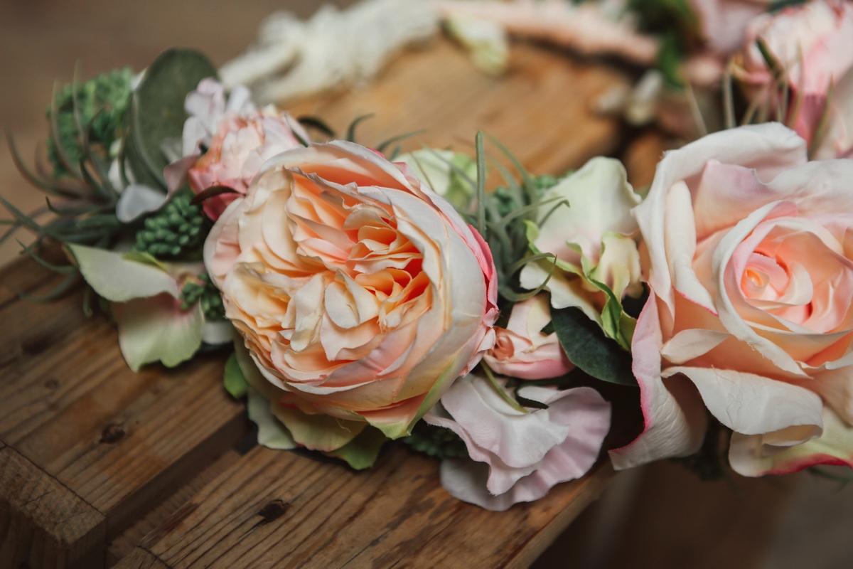 : accessoires de mariée fleurs artificielles haut de gamme colette bloom