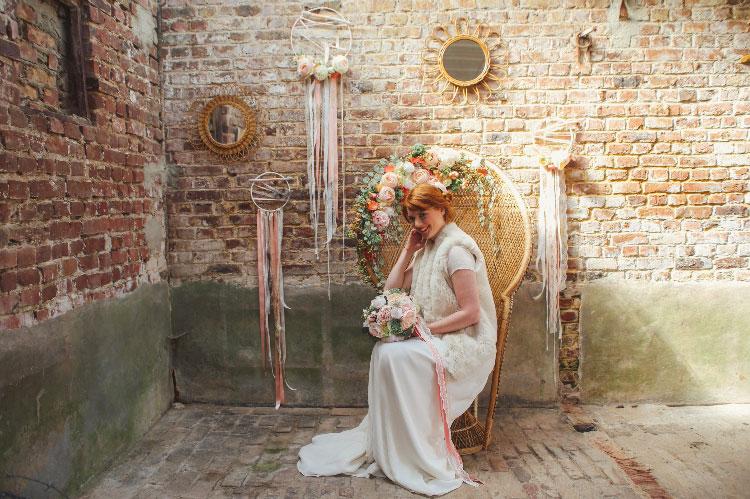 accessoire de tête mariage élégants fleurs artificielles colette bloom