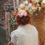 peigne pince chignon mariage fleursrenoncule rose Mademoiselle Maeva Colette Bloom