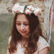 Courone Couronne fleur petite fille d'honneur rose printemps midinette