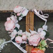 accessoire cheveux enfant d'honneur cérémonie rose tendre communion