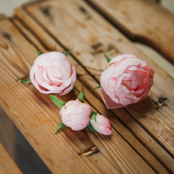 accessoire cheveux petite fille d'honneur rose mariage romantique barrette barette kid