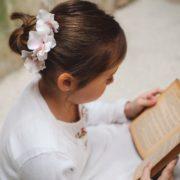 barrette petites filles coiffure enfant cérémonie fleur rose barette princesse