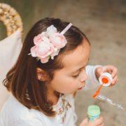 accessoire mariage enfant fleur rose princesse pivoine