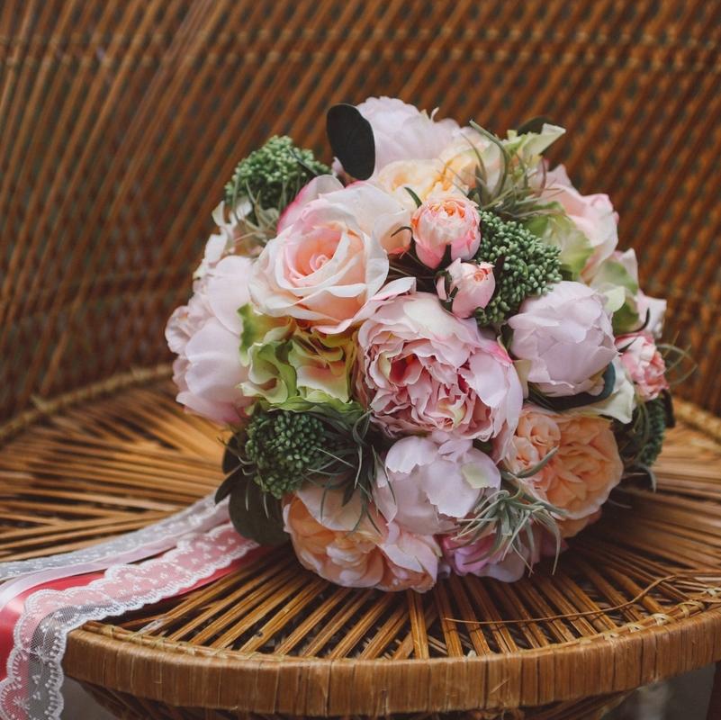 Bouquet de mariée sur mesure fleurs artificielles colette bloom
