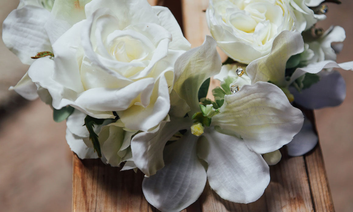 accessoire de tête fleur voile de mariée cérémonie ceremonie élégance blanc