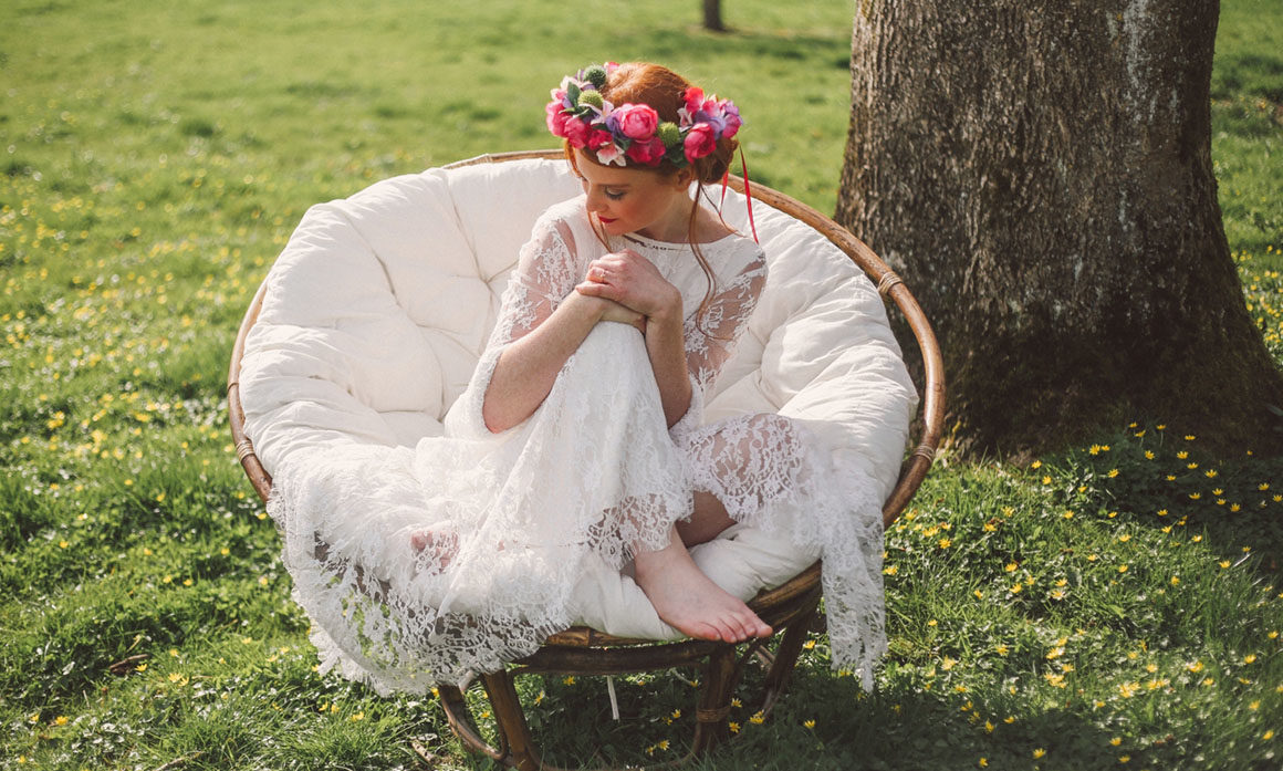 violet fuchsia vert fleur mariage pétillant accessoire