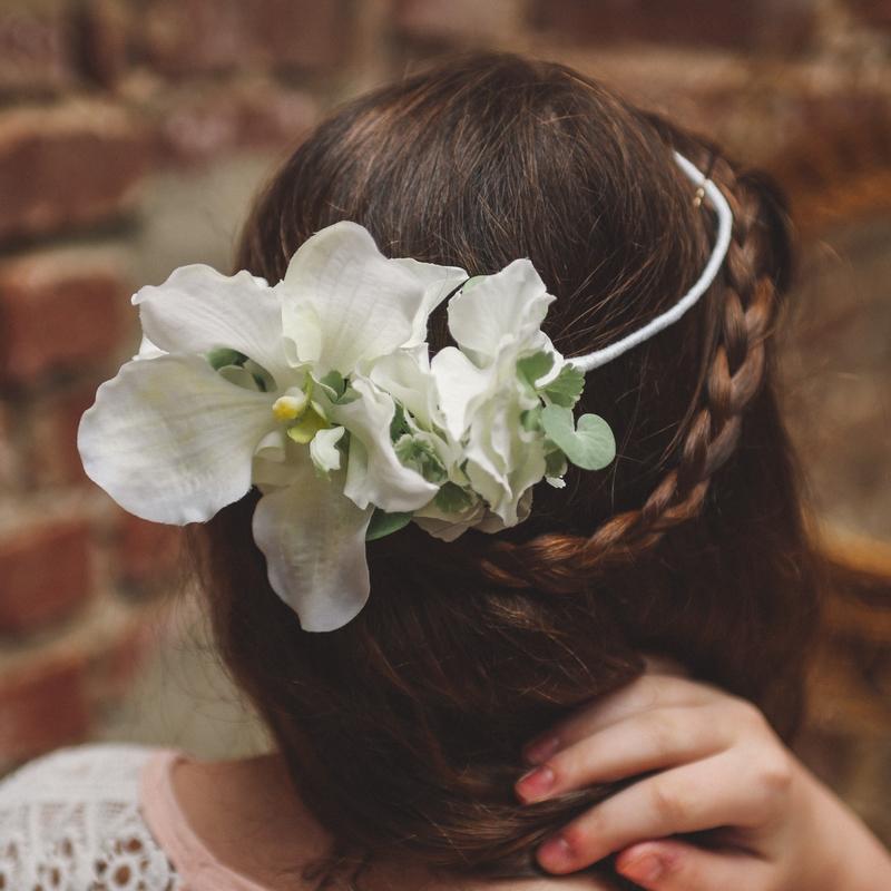 headband floral diadème enfant cérémonie cortège colette bloom