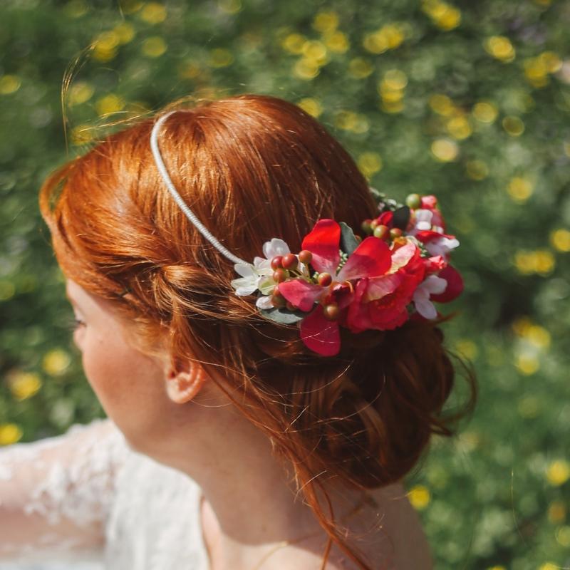 Headband serre-tête floral cheveux mariage shop colette bloom