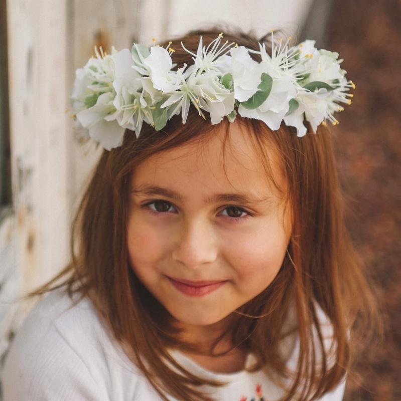 accessoire fleur cortège mariage communion baptême couronne petite fille colette bloom