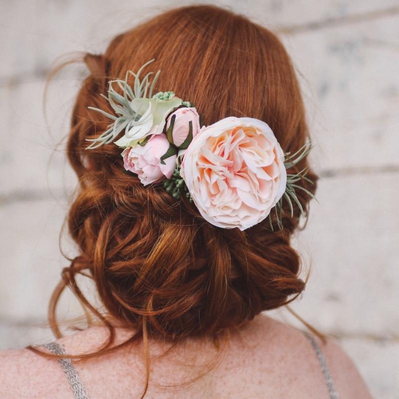 accessoire cheveux fleurs mariage luxe colette bloom