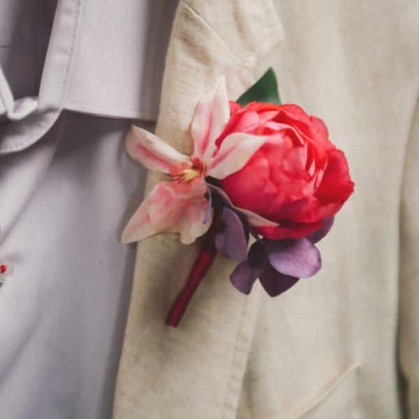 accessoire mariage homme noeud papillon violet rose foncé