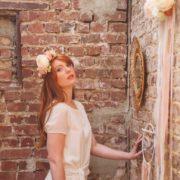 bijou de tête robe Orlane Herbin Style champêtre élégant mariage