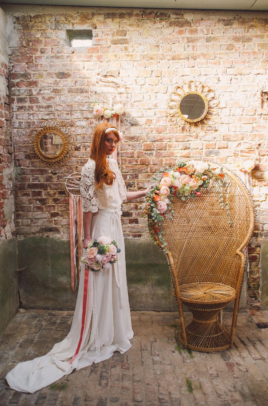 Pauline Franque photographe Marine Meignotte Marina Gandrey Orlane Herbin Constance L Couronne de fleurs mariage