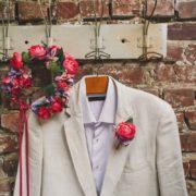 harmoniser les mariés fleurs colorés pivoine orchidée