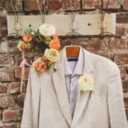 accessoire mariage pochette homme couronne assorti bohème champêtre printemps fleurs