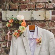 accessoire mariage pochette homme couronne assortie bohème champêtre printemps fleurs