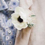 anémone renoncule dentelle mariage hiver blanc cadeau témoin champêtre élégant