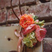 accessoire témoin cadeau mariage EVJF orange corail rose saumon pêche fleurs Mademoiselle Margot
