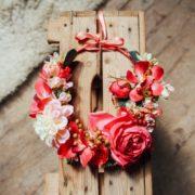 accessoire de tête fleurs mariage camaïeu de rose