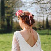 bijou de tête couronne de fleurs coquelicot champêtre chic élégant