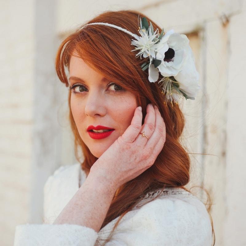 Couronne De Fleurs Blanches Facon Headband Pour Mariage Colette Bloom