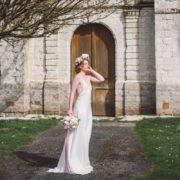 pastel hortensia vert pâle eucalyptus rose vuvuzuella david austin chic coiffure mariée poétique wedding flower Mademoiselle Marie