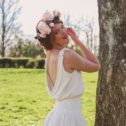 pastel hortensia marsala rose vintage dentelle chic coiffure mariée poétique wedding flower