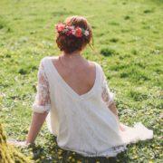 headband de fleurs colorées rose fuchsia mariage original créateur