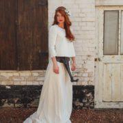 bijou de tête dentelle anémone renoncule robe Orlane Herbin Style Hiver Mariage