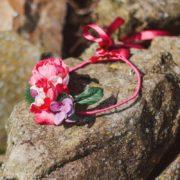 accessoire de tête mariage élégant pivoine fuchia orchidée rose hortensia mauve