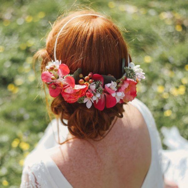 accessoire de tête coiffure originale mariage champêtre chic