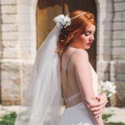 accessoire de tête bucolique mariage blanc Mademoiselle Aurélia