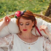 couronne fleur couleur cérémonie ruban mariée légèreté