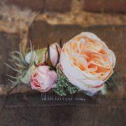 accessoire cheveux peigne fleurs nude mariage Colette Bloom