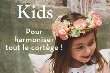 couronne fleurs artificielles vintage petite fille cortège communion baptême colette bloom