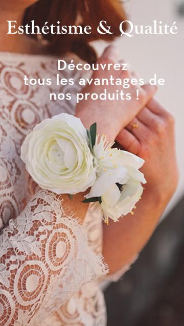 accessoire haut de gamme fleur artificiel qualité mariage collection colette bloom