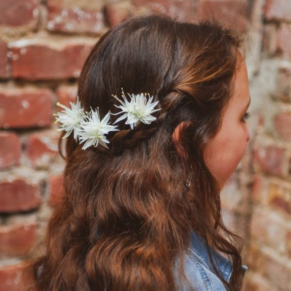 Coiffure mariage champetre petite fille